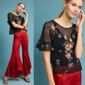 NEW Anthropologie Embroidered Cadiz Top